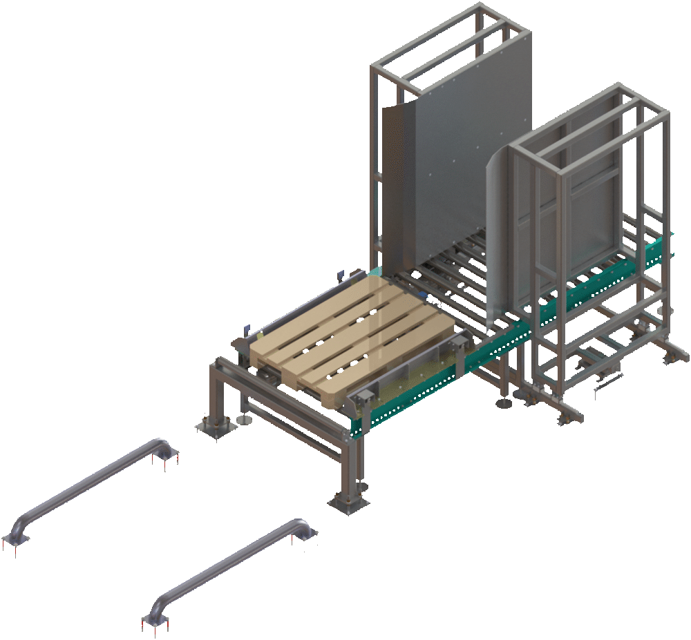 barrier and guide for feed points - Pallet Conveying & Handing Solutions