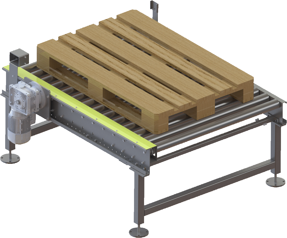 chain driven roller conveyor - Pallet Conveying & Handing Solutions