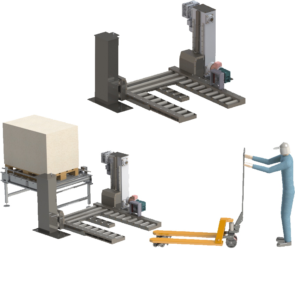 ironlift pallet lift - Pallet Conveying & Handing Solutions